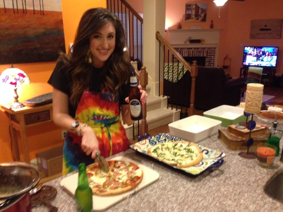 Tie-dye aprons are great for party prep, too.